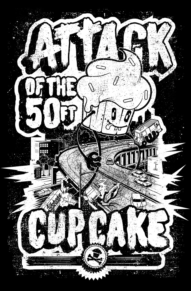 S3studio illustration by maxime archambault for Attack of the 50 foot woman t shirt